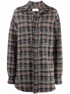Твидовая куртка-рубашка Faith Connexion. Цвет: розовый