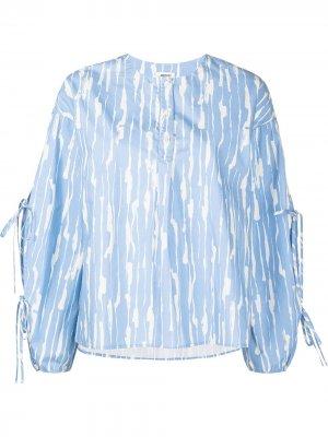Блузка с абстрактным принтом Jason Wu. Цвет: синий