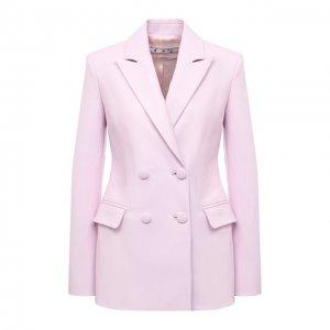 Кожаный жакет Off-White. Цвет: розовый