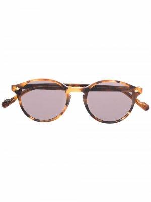 Солнцезащитные очки в круглой оправе Vogue Eyewear. Цвет: коричневый