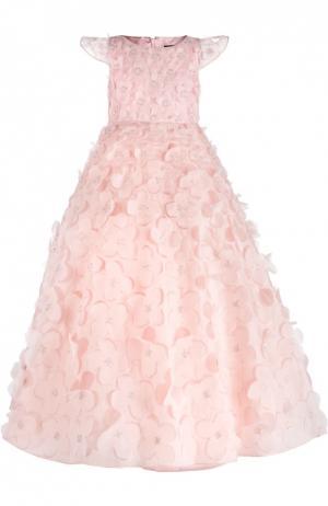 Платье Dennis Basso. Цвет: розовый