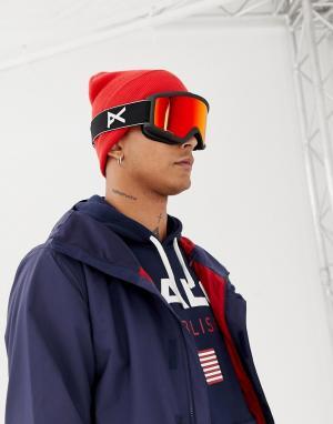 Защитные очки горнолыжника со сменными черными стеклами Helix 2 Sonar Anon. Цвет: черный