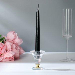 Набор античных свечей, 1,9х20 см, 6 штук, чёрный металлик Богатство Аромата