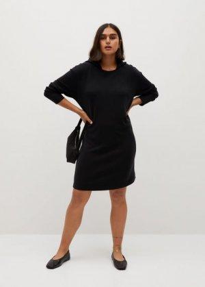 Платье-свитшот с капюшоном - Felpi7 Mango. Цвет: черный