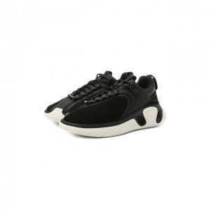 Комбинированные кроссовки B-Runner Balmain. Цвет: чёрно-белый
