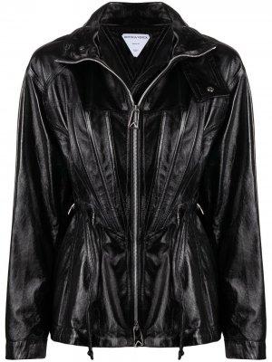 Куртка на молнии с капюшоном Bottega Veneta. Цвет: черный