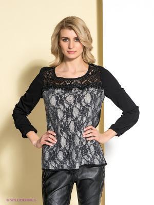 Блузка Cream. Цвет: черный, серый
