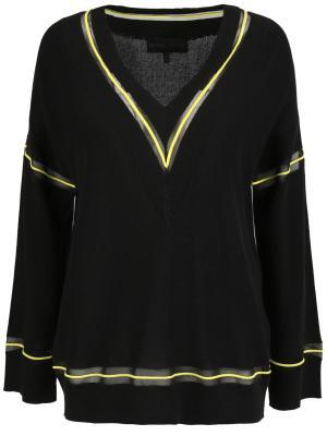 Хлопковый пуловер Kendall+Kylie. Цвет: черный