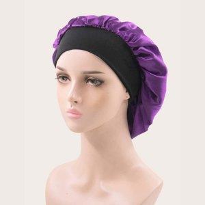 Шапочка для волос минималистичный SHEIN. Цвет: пурпурный