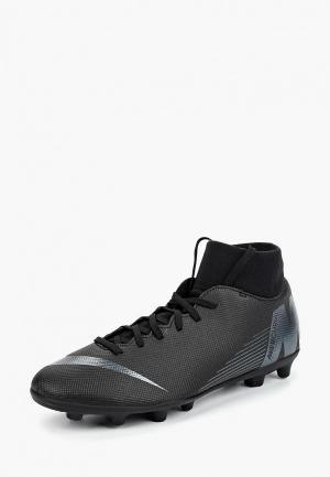 Бутсы Nike Superfly 6 Club (MG) Multi-Ground Football Boot. Цвет: черный