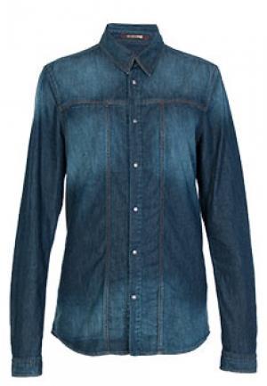 Рубашка ROBERTO CAVALLI. Цвет: синий