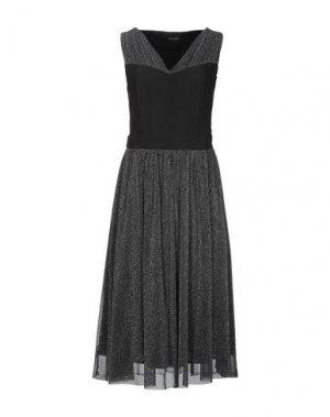 Платье длиной 3/4 FRACOMINA. Цвет: черный