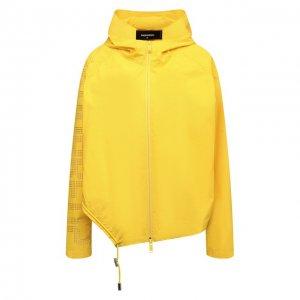 Хлопковая ветровка Dsquared2. Цвет: жёлтый