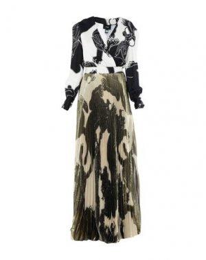 Длинное платье CAVALLI CLASS. Цвет: слоновая кость