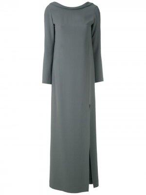 Длинное платье с разрезом сбоку Gloria Coelho. Цвет: зеленый