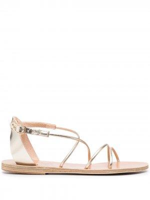 Сандалии Meloivia Ancient Greek Sandals. Цвет: золотистый
