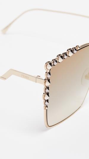 Oversized Square Sunglasses Fendi