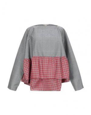Блузка ANTONIO BERARDI. Цвет: серый