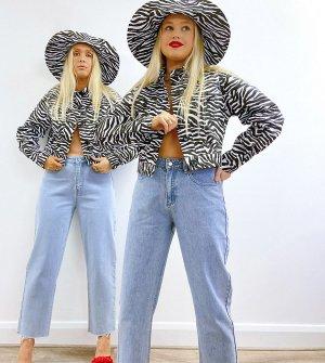 Голубые выбеленные джинсы прямого кроя X Olivia & Alice-Голубой Labelrail