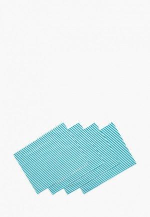 Комплект салфеток сервировочных Семейные ценности Морской пикник. Цвет: голубой