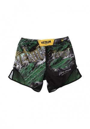 Шорты спортивные Venum Crocodile. Цвет: зеленый