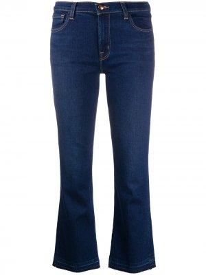 Расклешенные джинсы с завышенной талией J Brand. Цвет: синий