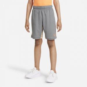 Шорты для тренинга с графикой мальчиков школьного возраста Dri-FIT - Серый Nike
