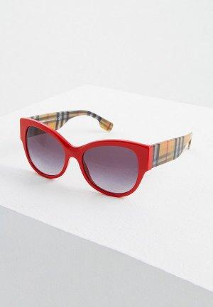 Очки солнцезащитные Burberry BE4294 38148G. Цвет: красный