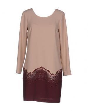 Короткое платье ATOS LOMBARDINI. Цвет: телесный