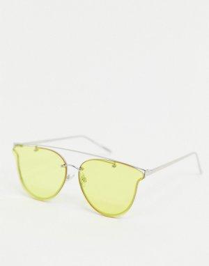 Солнцезащитные очки-авиаторы с желтыми стеклами -Желтый Jeepers Peepers