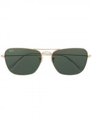Солнцезащитные очки Caravan Ray-Ban. Цвет: золотистый