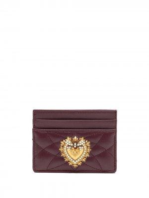 Стеганый картхолдер Devotion Dolce & Gabbana. Цвет: красный