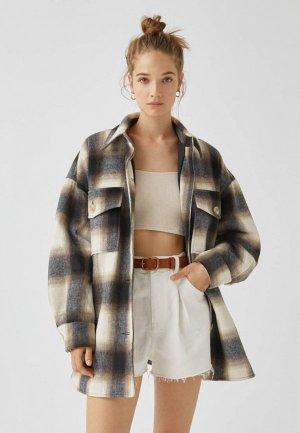 Куртка Pull&Bear. Цвет: разноцветный
