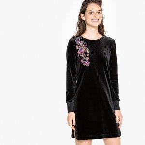 Платье-свитшот La Redoute. Цвет: черный