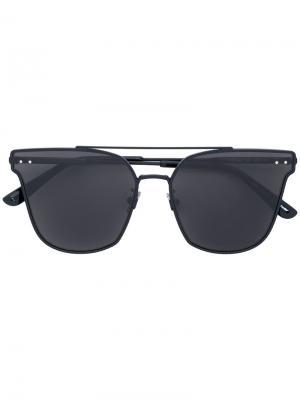 Солнцезащитные очки в оправе кошачий глаз Bottega Veneta Eyewear. Цвет: чёрный