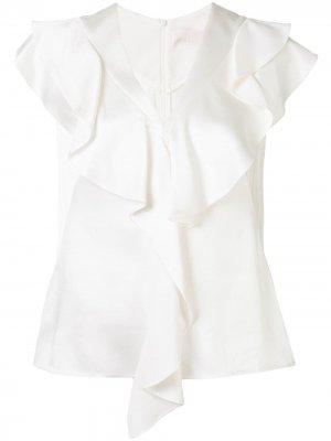 Блузка Cady с оборками Peter Pilotto. Цвет: белый