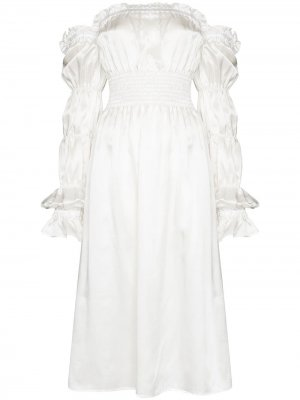 Ночная сорочка Michelin длины миди Sleeper. Цвет: белый