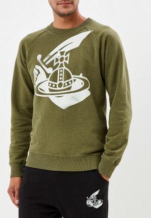Свитшот Vivienne Westwood Anglomania. Цвет: зеленый