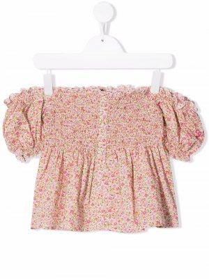 Блузка Fancy с цветочным принтом Mc2 Saint Barth Kids. Цвет: hanros(hannah rose)