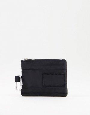 Бумажник с карабином -Черный SVNX