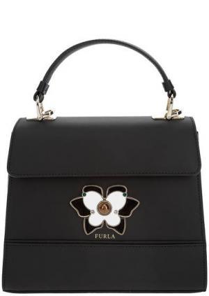 Маленькая черная сумка из гладкой кожи Mughetto Furla. Цвет: черный