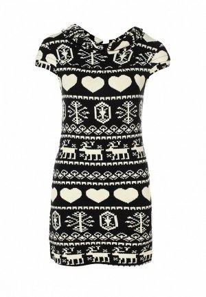 Платье LeMonada LE005EWET097. Цвет: черный
