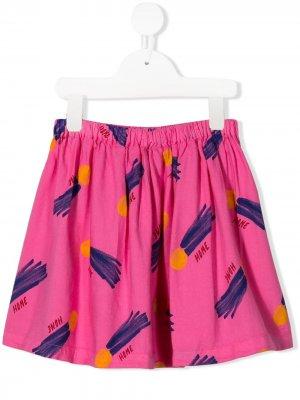 Юбка Gonne Bobo Choses. Цвет: розовый