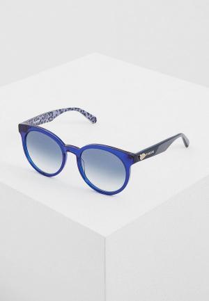 Очки солнцезащитные Love Moschino MOL003/S PJP. Цвет: синий