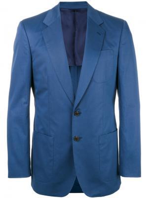 Блейзер в стиле casual Gieves & Hawkes. Цвет: синий
