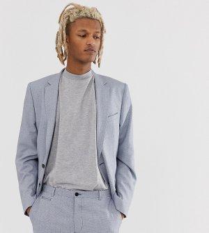 Фактурный пиджак зауженного кроя -Голубой Noak