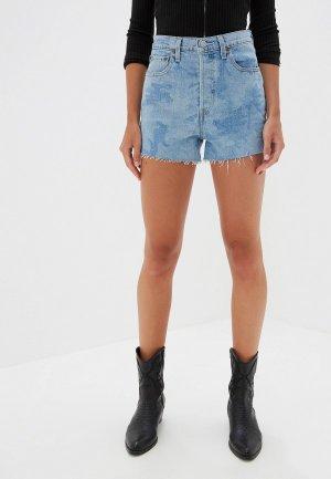 Шорты джинсовые Levis® Levi's® RIBCAGE SHORT. Цвет: голубой