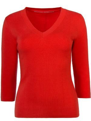 Шерстяной пуловер ERMANNO SCERVINO. Цвет: оранжевый
