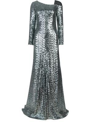 Вечернее платье с пайетками Chapurin. Цвет: разноцветный