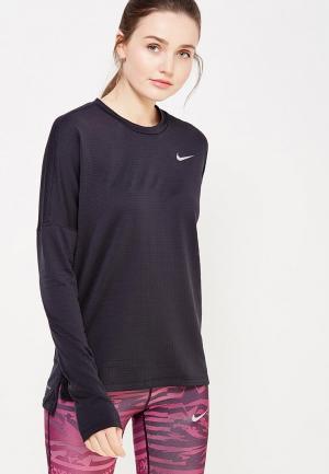 Лонгслив спортивный Nike NI464EWUHE96. Цвет: черный